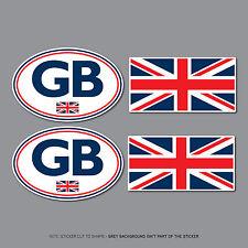 SKU2549+50 - GB & Union Jack Stickers Car Badge Vinyl