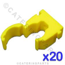 Cl112 Talon 20 x alta qualità 15mm singolo Hinged Tubo Clip GIALLO per tubi di gas