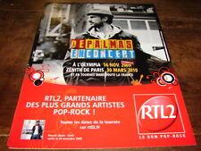 GERALD DE PALMAS - PUBLICITE CONCERT 2009-2010 !!!!!!!!