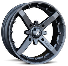 (4) MSA MotoSport Alloys 12 Inch Battle M23 Rim Wheel Honda Kawasaki Polaris RZR