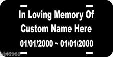 Car Tag License Plate In Loving Memory Of Personalized Custom customized Truck