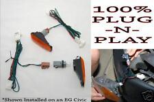JDM 96-00 Honda Civic EK9 EK Side Markers w/ Zerg Industries Harness & Bulbs