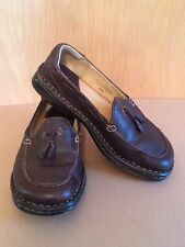Born Leather Loafers~7~Women's~Tassel~38~Brown