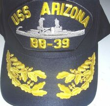 US NAVY CAP ORIGINAL USS ARIZONA Made in USA Double Eggs One size fits all