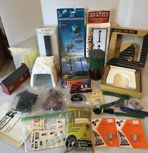 Large Lot of HO Train Parts and Accessories. Many New