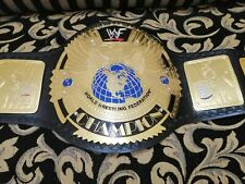 WWF Big Eagle Scratch Logo Championship Belt Adult Size Gold Plated