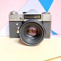 Zenit E 35mm SLR Film Camera Kit, W/ Helios 44-2 F2 58mm Lens!  Lomo Vintage