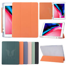 Leather Case Smart Cover W/Pencil Holder For iPad 5/6/7/8th Pro 11 10.5 Air mini