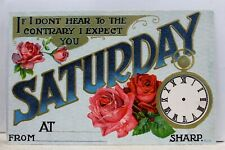 Greetings If I Don't Hear To Contrary I Expect Saturday Sharp Postcard Old View