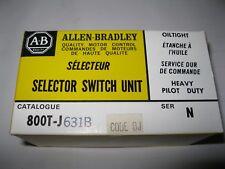 Brand New Allen Bradley 800T-J631B 3 POSITION KEY SELECTOR SWITCH & Keys