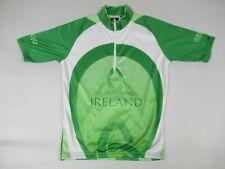 Ireland Green & White Cycling Jersey Bike Cyclist Large Athletic Shirt B1229