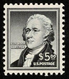 Scott#1053 $5 Alexander Hamilton 1954 Mint NH OG Never Hinged Well Centered