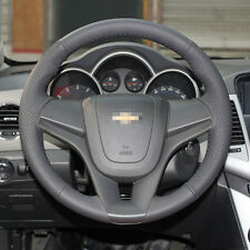 New Black Leather Steering Wheel Stitch on Wrap Cover For Chevrolet Cruze