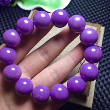 Round Beads Bracelet Aaaa 14-15mm Natural Phosphosiderite Purple Gemstone