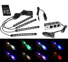 LED Strips Light Kit 9007 Car Interior Wireless Remote Control Easy Installation