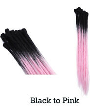100% Natural Reggae Dreadlock Hair Extensions Hairpeices Women Ladies Ombre HG53