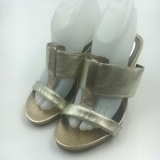 Alfani NEW Gold Rose Plymouth Women's Shoes Size 8M Slides Wedges Sandals