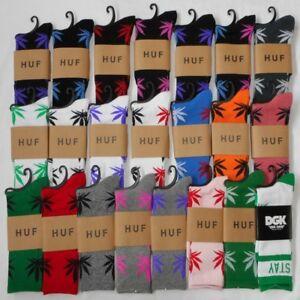 Weed Marijuana Kush Socks Cannabis Plantlife 420 Crew Leaf Socks