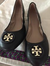 TORY BURCH WOMANS SHOES  ALLIE BALLET NEW SIZE 6 Black New / Gold Logo.
