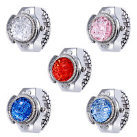 Hot Fashion women's jewelry round ring watch stone steel elastic ladies gift
