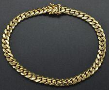"#As56 Men's 6mm 14k Solid Yellow Gold Miami Cuban Curb Chain Bracelet. 9"" 33gr"