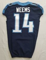 #14 Eric Weems of Tennessee Titans NFL Game Issued Locker Room Alternate Jersey