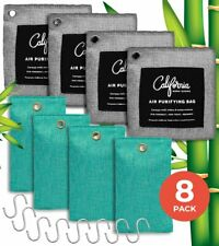 THE COMPLETE 8 PACK  BAMBOO CHARCOAL AIR PURIFYING BAGS AIR/CAR DEODORIZER