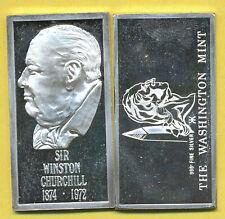 2 Silber-Barren, je 20 g .999, zus. 40 g fein, Winston Churchill PP