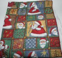 "1-1/3yds. x 42"", Unbranded, ""Santa & Stars"", Multicolor, Cotton Fabric"