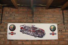 Alfa romeo 155 V6 DTM TYPE 167 large pvc  WORK SHOP BANNER garage man cave SHOW