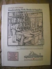 Highland Hardware early fall 1996 catalog. Woodworking Tools, Books & Supplies