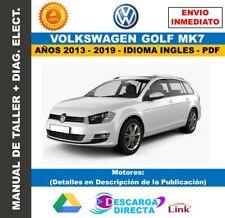 Manual De Taller Volkswagen Golf MK7 2013-2019. Incluye Diagramas Eléctricos