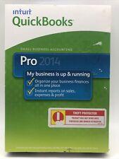New Sealed INTUIT QUICKBOOKS PRO 2014 FOR WINDOWS Vista/7/8FULL RETAIL USA Rare
