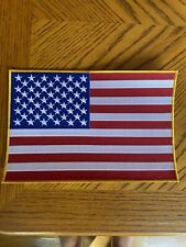 11� Super Large golden edge American Flag Embroidered iron patch,