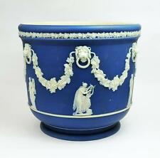 WEDGWOOD Fine JASPER WARE CACHEPOT 19th Century CLASSICAL MUSE