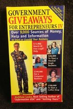 Government Giveaways for Entrepreneurs IV / 4 - VHS Videotape - New / Sealed