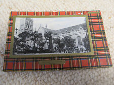 Vintage Postcard - Dundee Old Tower & Churches - Davidsons Tartan - posted WA