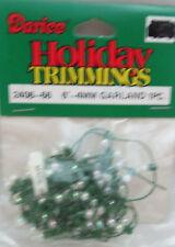 Darice Christmas 6 Feet 4mm Round Ball Garland - Ab Clear