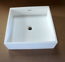 Wall or Countertop Solid Surface 46.5cm x 46.5cm Square Bathroom Sink Faulty