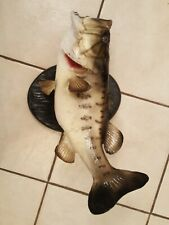 Taxidermy Real Skin Mount Big Mouth Bass.its Big!.beautiful!