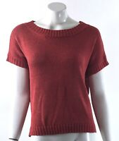 Premise Sweater Size Medium Coral Pink Boatneck Short Sleeve Dolman Solid Womens