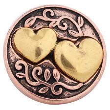 Button Click Druckknopf 6229 Liebe Herz - kompatibel mit Chunk Armband