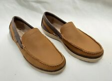 CROCS WRAP COLORLITE DECK SHOE STYLE LOAFER BROWN US10 UK9 NEW FREE UK POSTAGE!!