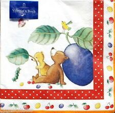 vILLEROY bOCH Set of 20 Luncheon Decoupage Paper Napkins - Kiddy Bear