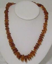 "Estate Find Vintage Baltic Amber 24"" Graduated Stones Necklace"