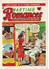 "WARTIME ROMANCES # 7 ""covers of CLASSIC ROMANCE comic book"" series 1992 postcard"