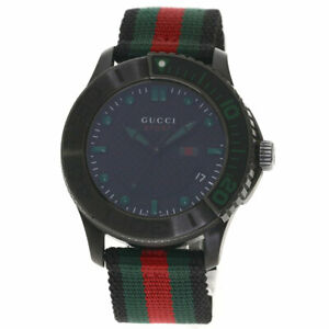 GUCCI G timeless Watches YA126.2 Stainless Steel/Canvas mens