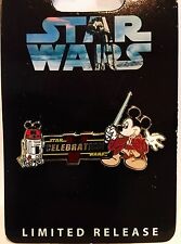 Disney World Star Wars Weekends Celebration 5 V Logo Pin Jedi Mickey R2-D2 R2-MK