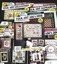 5 FOLK Cross Stitch CROSS COUNTRY STITCHING Special SPRING Magazines 2003-2007