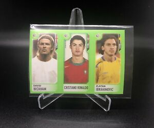 2006 Panini Mini Sticker - Cristiano Ronaldo/Ibrahimovic/Beckham WC Germany Read